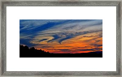 Whirlpool Sunset Framed Print