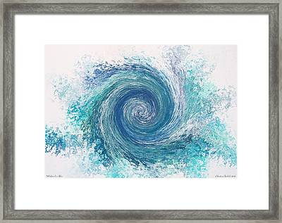 Whirlwind In Blue Framed Print