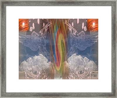 Framed Print featuring the digital art Whirlwind by Kelly McManus