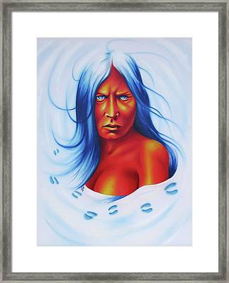 Whirlwind Woman Framed Print by Robert Martinez