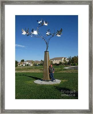 Whirlybird Framed Print by Peter Piatt