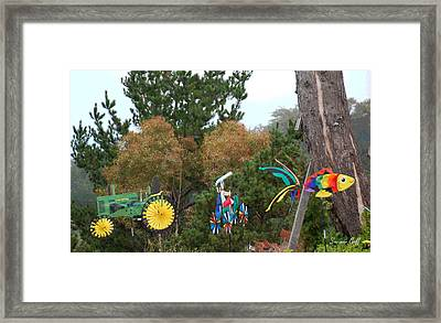 Whirlygigs In A Row Framed Print