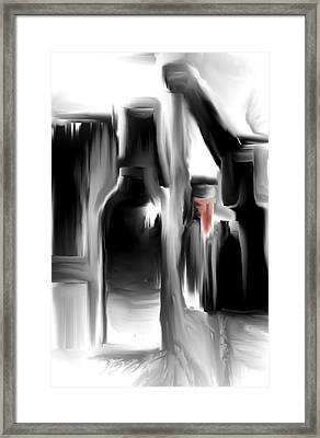 Framed Print featuring the digital art Whiskey And Water by Jessica Wright
