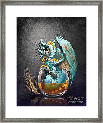 Framed Print featuring the digital art Whiskey Dragon by Stanley Morrison