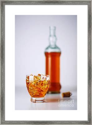 Whiskey Glass Framed Print by Carlos Caetano