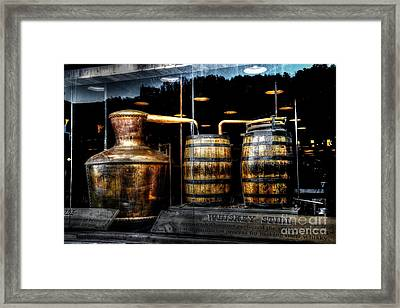 Whiskey Still On Main Street Framed Print