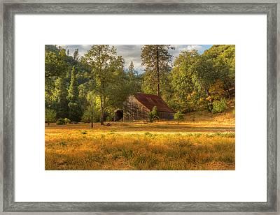Whiskeytown Barn Framed Print by Randy Wood