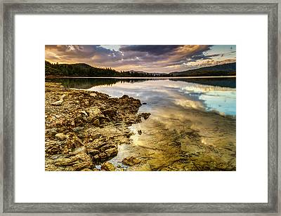 Whiskeytown Lake Reflections Framed Print by Randy Wood