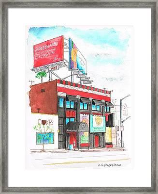 Whisky-a-go-go In West Hollywood - California Framed Print by Carlos G Groppa