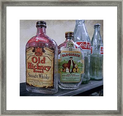 Whisky And Coke Framed Print by Daniel Hagerman
