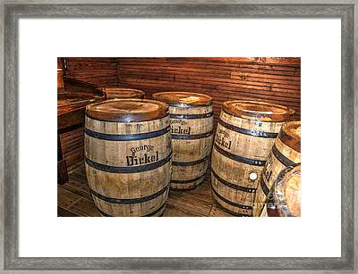 Whisky Barrels Framed Print by Paul Mashburn