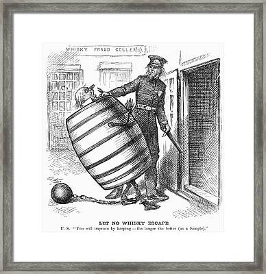 Whisky Ring Cartoon, 1876 Framed Print