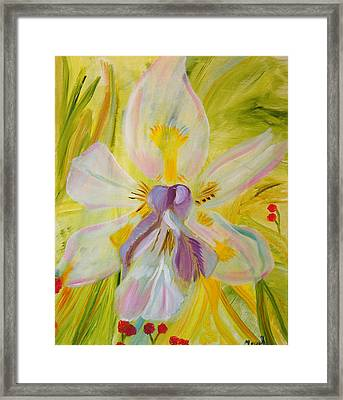Framed Print featuring the painting Whisper by Meryl Goudey
