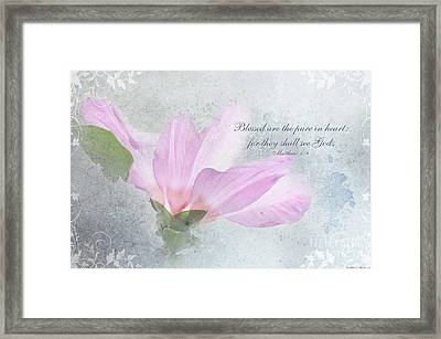 Whisper To Me With Verse Framed Print by Debbie Portwood