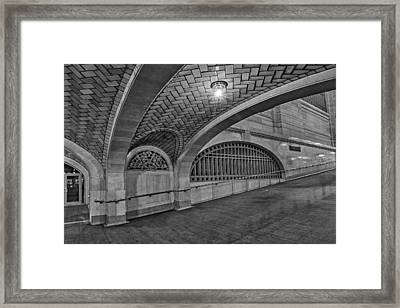 Whispering Gallery Bw Framed Print by Susan Candelario
