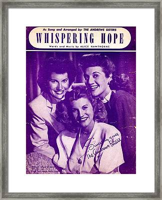 Whispering Hope Framed Print