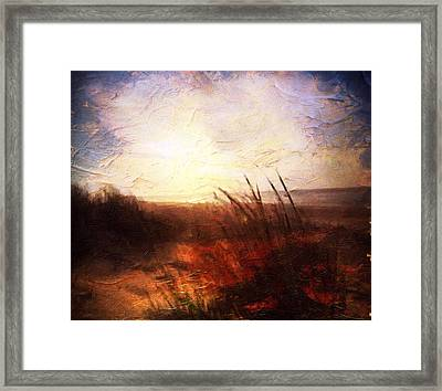 Whispering Shores By M.a Framed Print