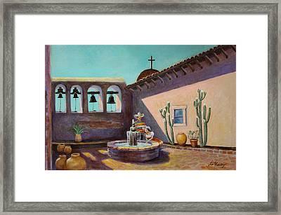 Whispering Waters At Mission San Juan Capistrano Framed Print