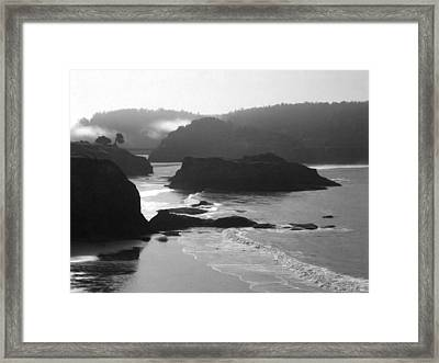 Framed Print featuring the digital art Whispering Wind by Holly Ethan