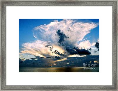 Whispers From The Heavens Off The Coast Of Louisiana Framed Print by Michael Hoard