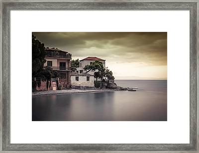 Whispers Of Autumn On Top On The Sea Framed Print