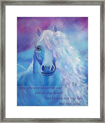 Whispers To My Heart Framed Print by The Art With A Heart By Charlotte Phillips