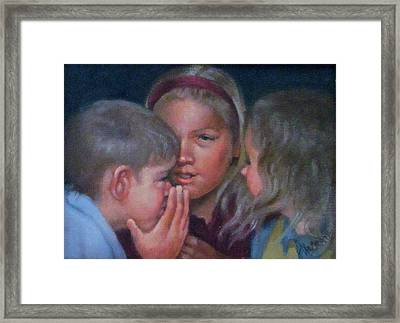 Whispher Framed Print by Janet McGrath