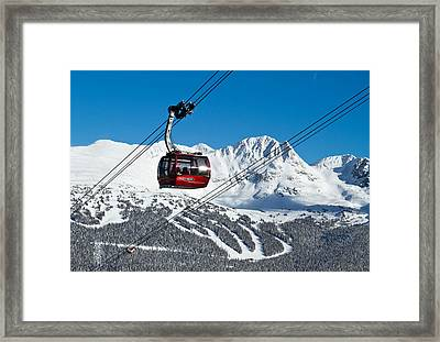 Whistler Blackcomb Peak To Peak Framed Print