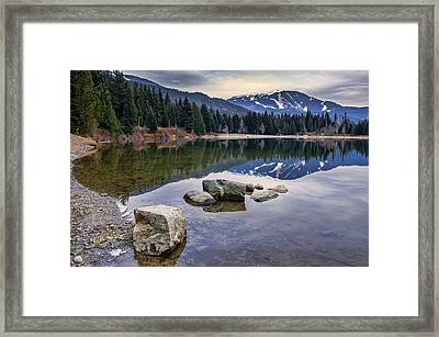 Whistler Mountain Reflection Framed Print