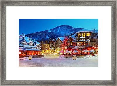 Whistler Village  Framed Print