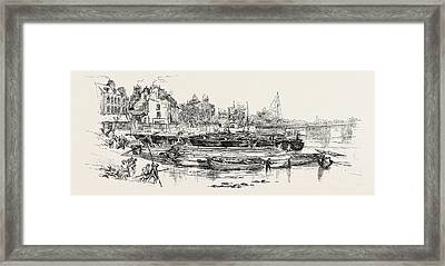 Whistlers House At Old Chelsea, Uk, Britain Framed Print