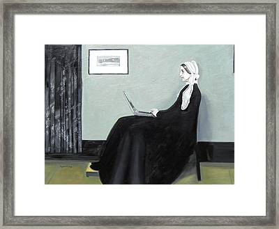 Whistler's Mother Googles Herself Framed Print by Bryan Ory