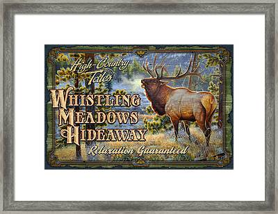 Whistling Meadows Elk Framed Print by JQ Licensing