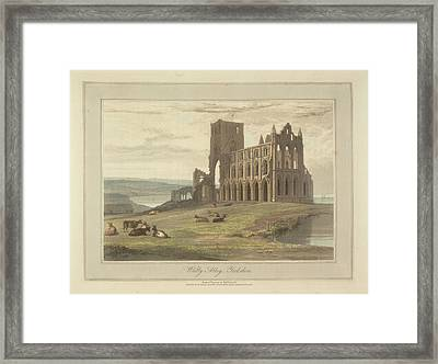 Whitby Abbey Framed Print by British Library