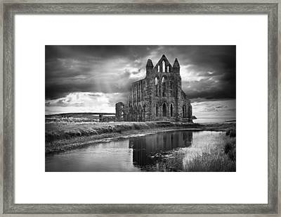 Whitby Abbey Framed Print by Ian Barber