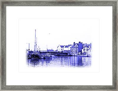Whitby Harbor Framed Print by Jane McIlroy
