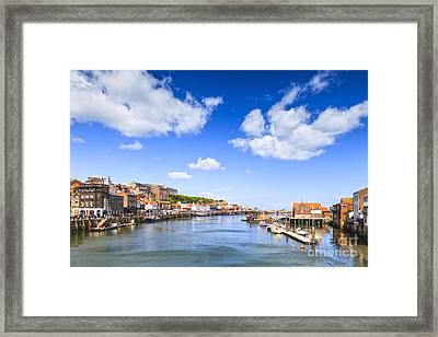 Whitby Harbour And River Esk North Yorkshire England Framed Print by Colin and Linda McKie