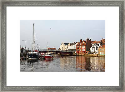 Whitby Harbour Framed Print by Jane McIlroy