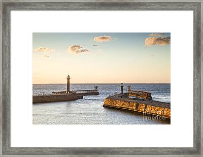 Whitby Harbour North Yorkshire England Framed Print by Colin and Linda McKie