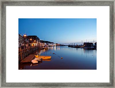 Whitby Harbour Framed Print by Stephen Taylor