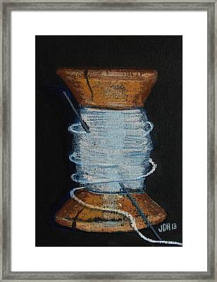 Framed Print featuring the drawing White 1 by Joseph Hawkins