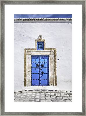 White And Blue Framed Print