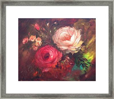 White And Red  Framed Print by Mirel Van de Riet