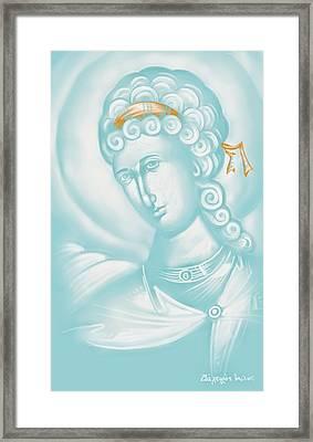 White Angel Framed Print by Julia Bridget Hayes