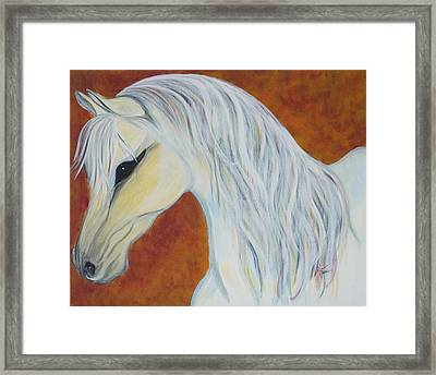 White Autumn Framed Print by Robin Hillman