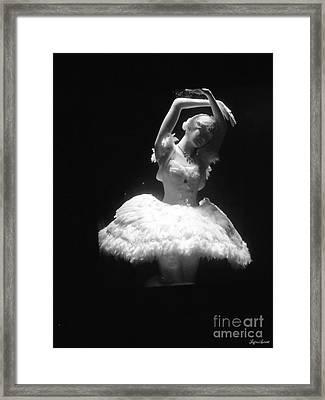 White Ballerina Framed Print by Lyric Lucas