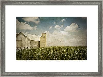 White Barn Framed Print by Michael Huddleston
