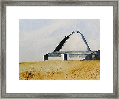 White Barn Framed Print by William Beaupre