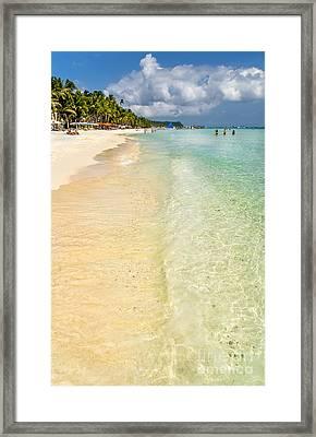 White Beach Boracay Framed Print by Adrian Evans