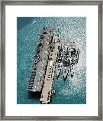 White Beach Naval Facility Framed Print by Us Navy/james G. Mccarter